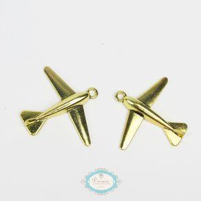 pingente-aviao-dourado-4pcs